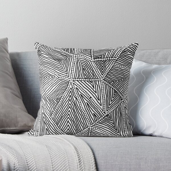 Authentic Aboriginal Art Throw Pillow