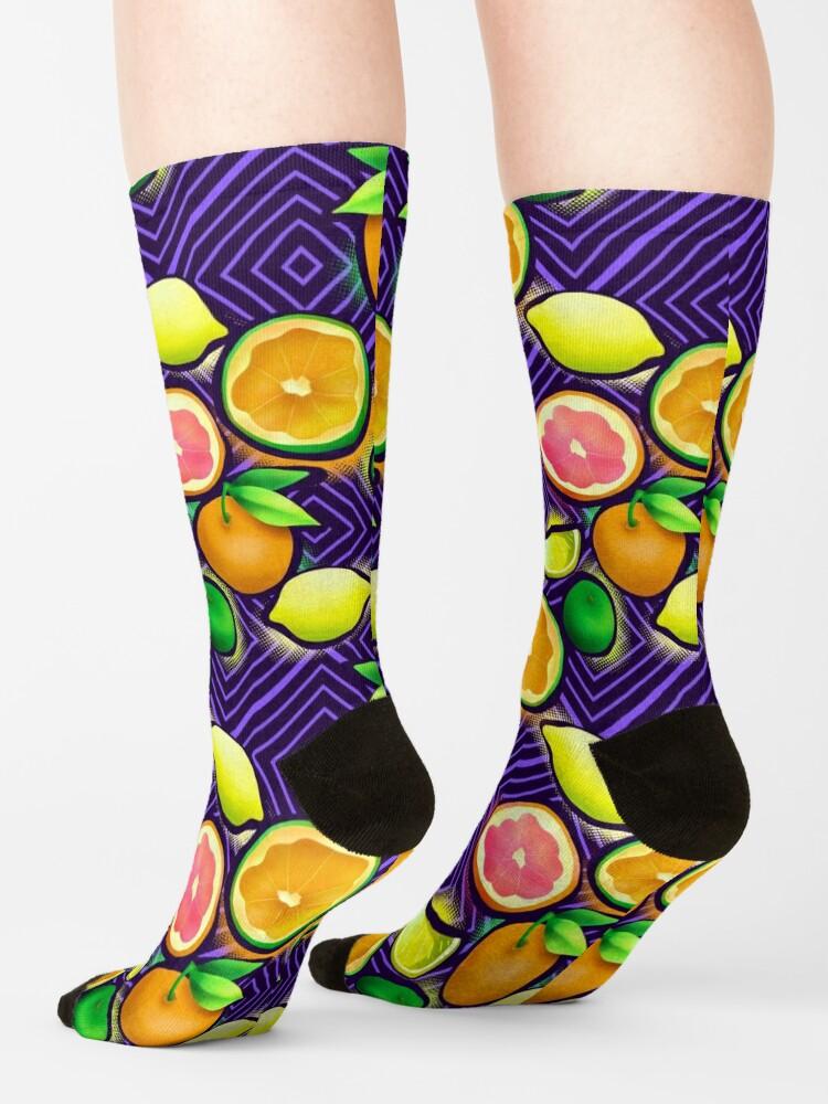 Alternate view of Lemonade geo violet Socks