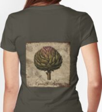 Artichoke, Cynara Scolymus Vintage Botanicals collection Womens Fitted T-Shirt
