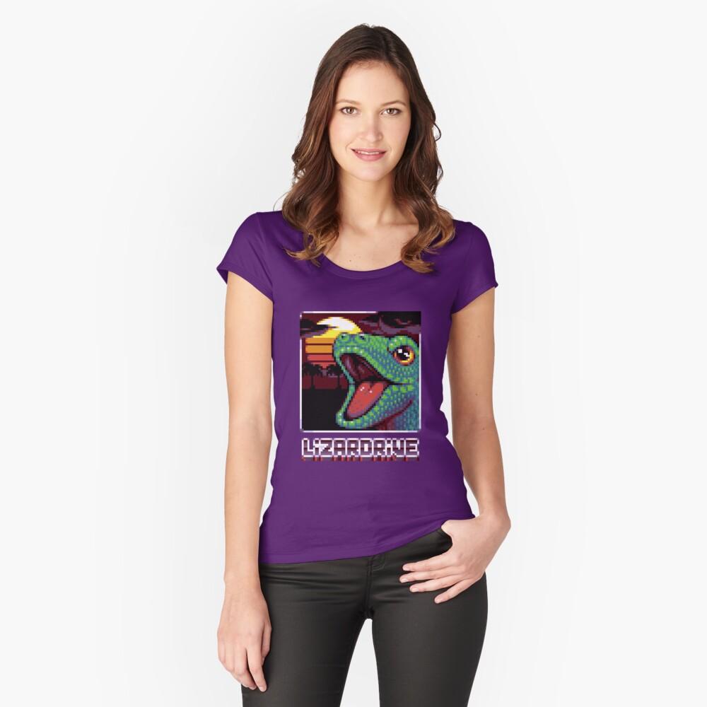 T-shirt échancré «LIZARDRIVE»