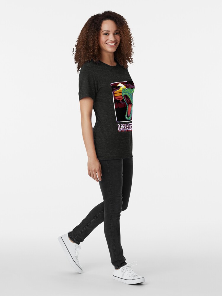 T-shirt chiné ''LIZARDRIVE': autre vue