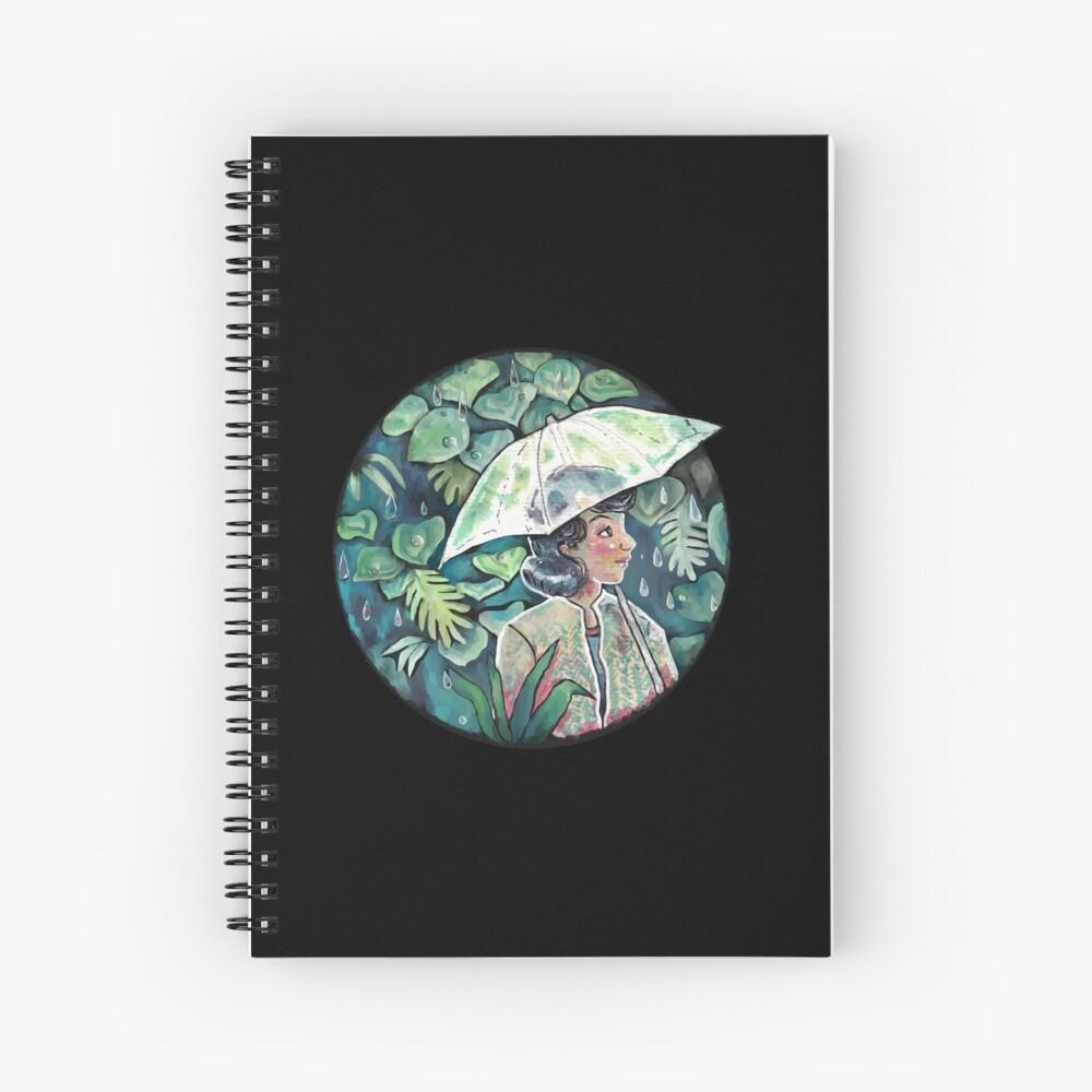 Umbrella girl Spiral Notebook