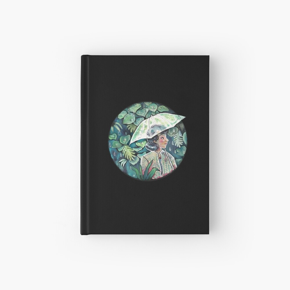 Umbrella girl Hardcover Journal