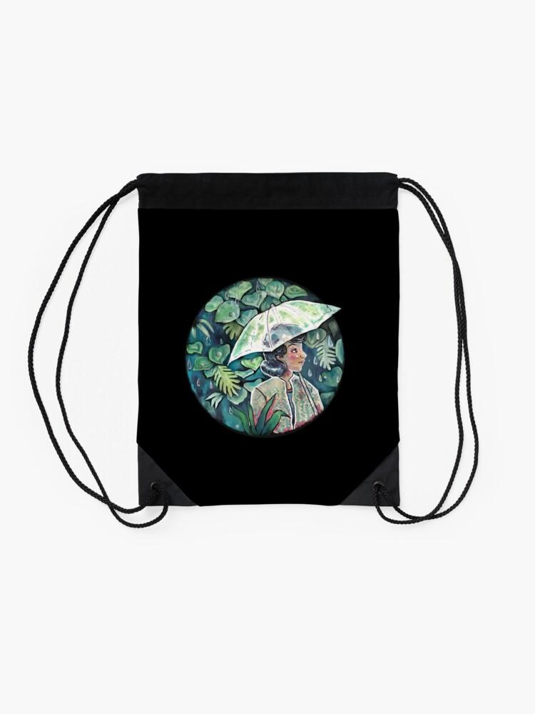 Alternate view of Umbrella girl Drawstring Bag