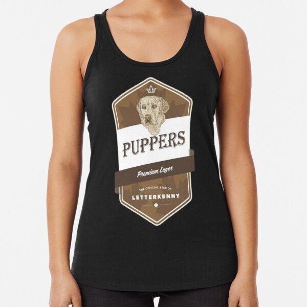 puppers beer Racerback Tank Top