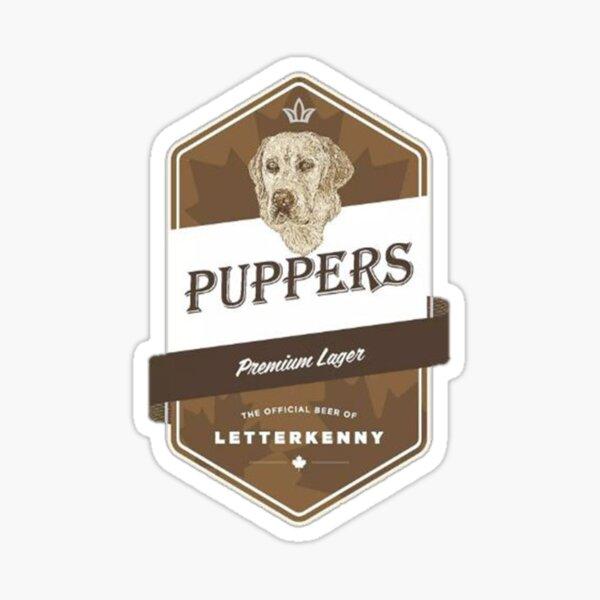puppers beer Sticker