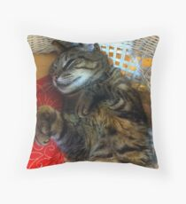 Happy Sam Throw Pillow