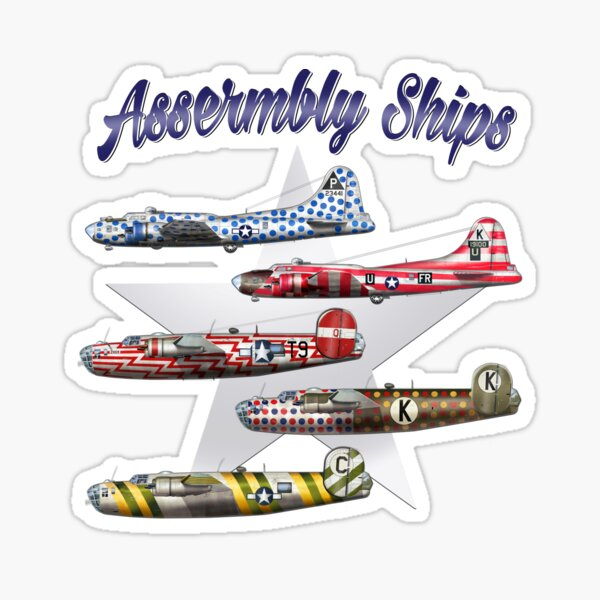 US 8th Army Airforce Formation Ships Sticker