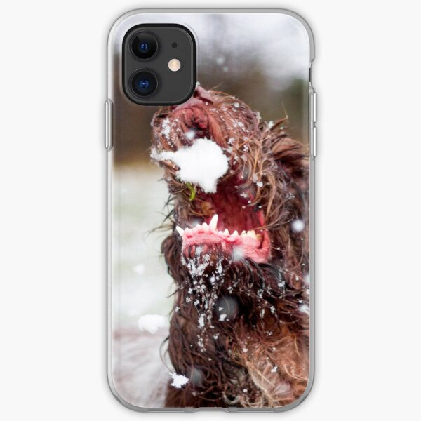 Brown Roan Italian Spinone Dog iPhone Soft Case