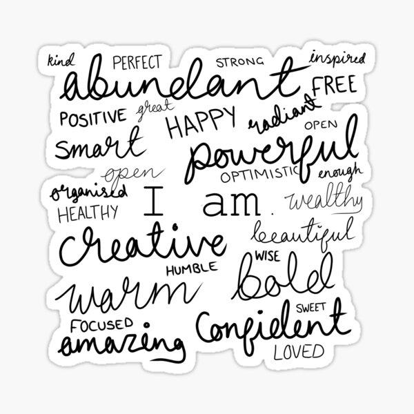 I Am... Positive Affirmations Print Sticker