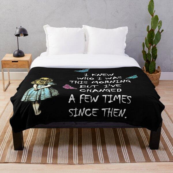 Alice In Wonderland Quote Throw Blanket