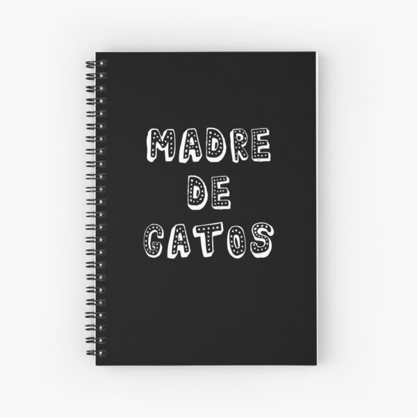 Regalo - Madre de Gatos - Cat Lover Gift Spiral Notebook