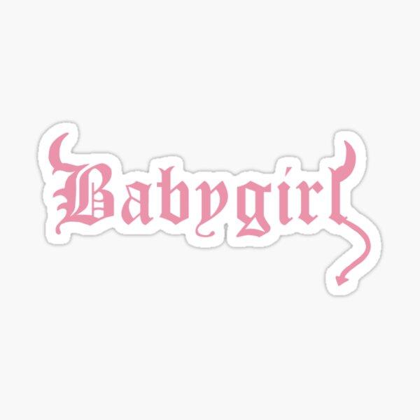 rosa diablo babygirl Pegatina