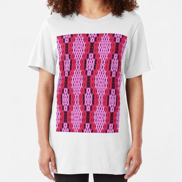 Red tukutuku Slim Fit T-Shirt