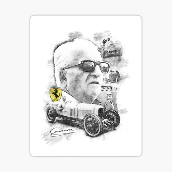 Indy Luxury Motorsports >> Enzo Ferrari Stickers | Redbubble
