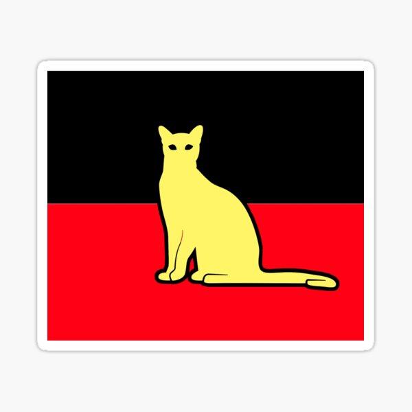 Aboriginal cat Sticker