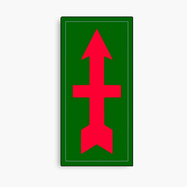 """32nd Infantry Brigade Combat Team """"Red Arrow"""" (United States Army) Canvas Print"""