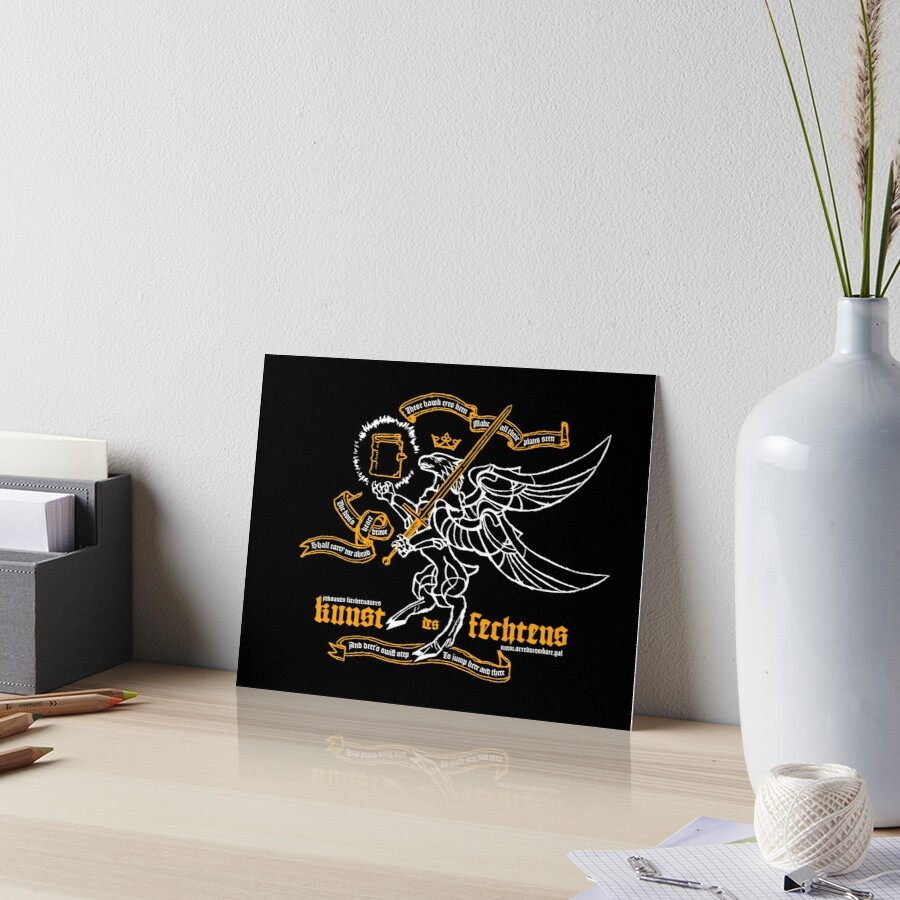Kunst des Fechtens - Tetramorph Art Board Print
