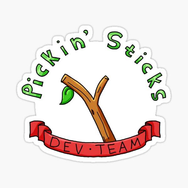 Pickin 'Sticks Dev Team Sticker