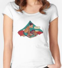 Troy and Abed's Dope Adventures Women's Fitted Scoop T-Shirt