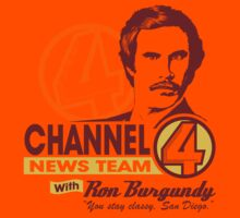 Channel 4 News Team with Ron Burgundy!