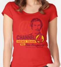 Channel 4 News Team with Ron Burgundy! Women's Fitted Scoop T-Shirt
