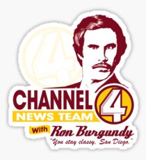 Channel 4 News Team with Ron Burgundy! Sticker