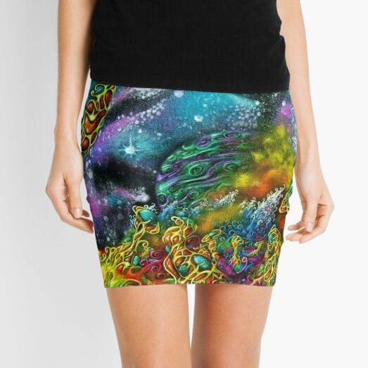 Inward Space Mini Skirt