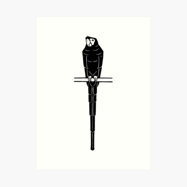 Parrot Beta Woodblock Art Print