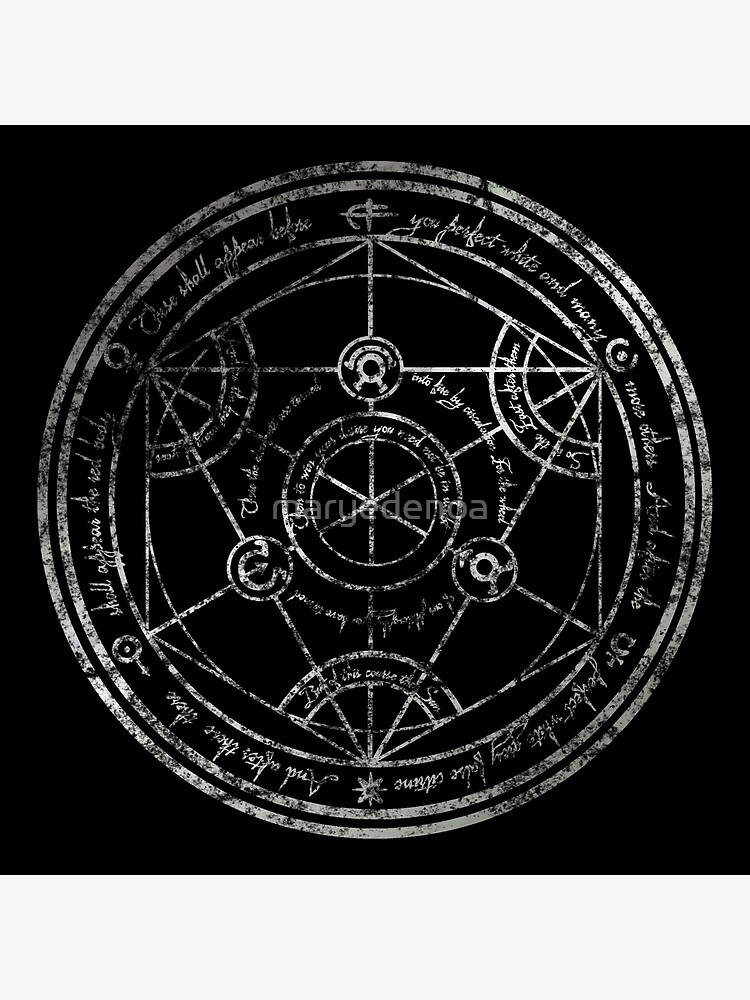 Human Transmutation Circle - silver grunge by maryedenoa