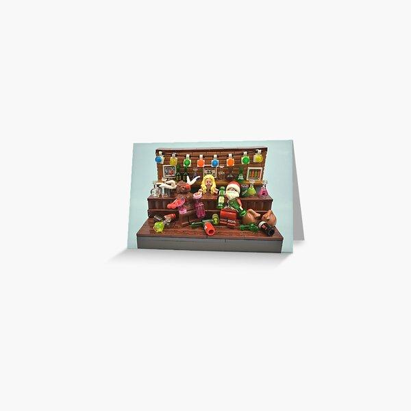 Bad Santa & Rudi Greeting Card
