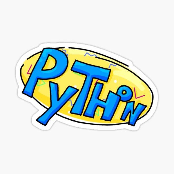 90 Python Logo Sticker