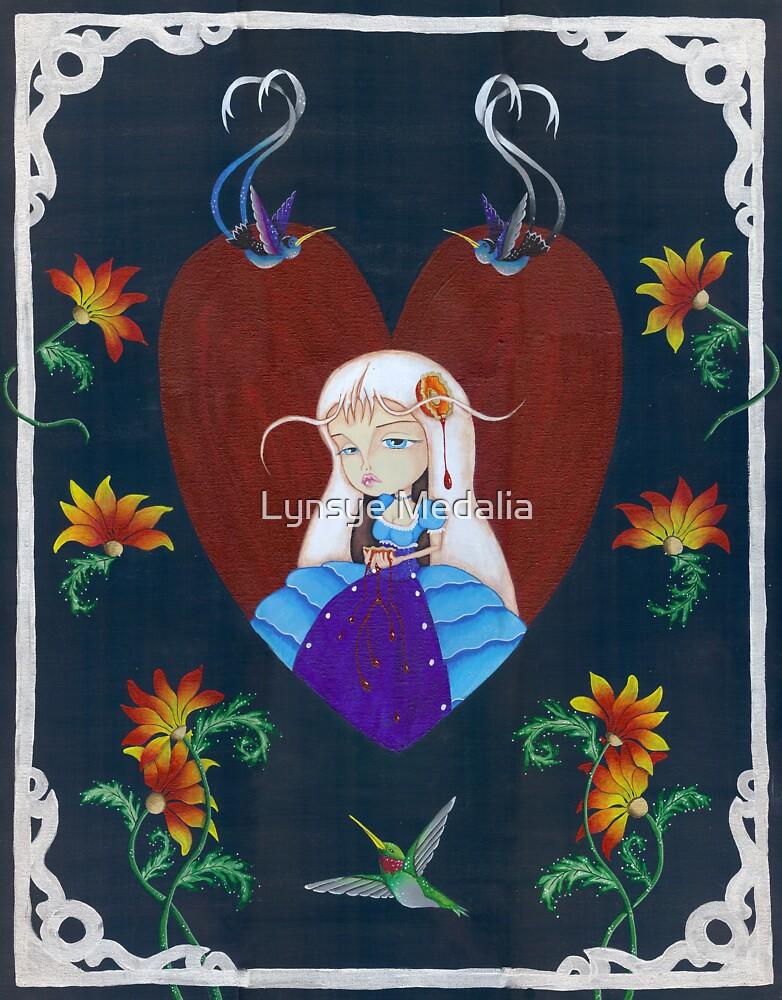 Painting Flowers by Lynsye Medalia