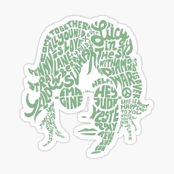 JOHN LENNON Light Green Sticker