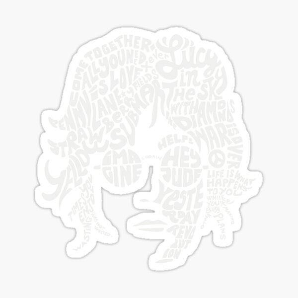 JOHN LENNON Red Sticker