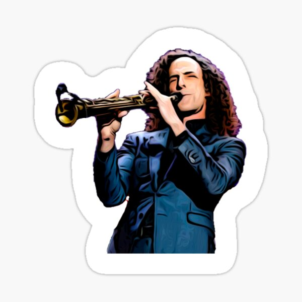Kenny G and his Saxophone Sticker