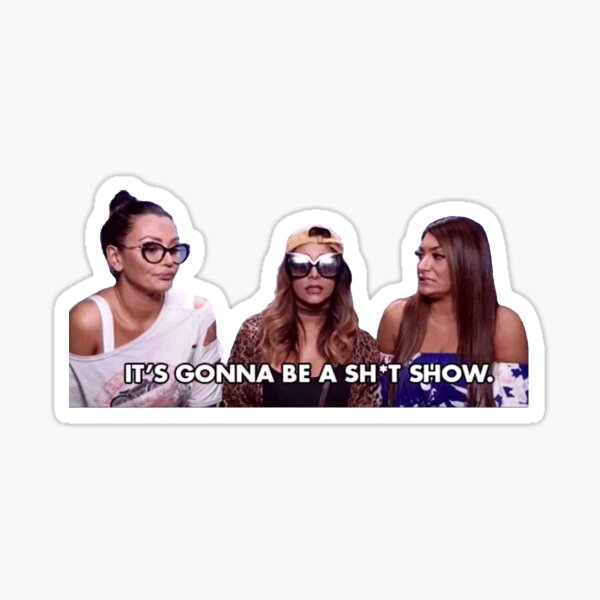 ladies of the jersey shore 2 Sticker
