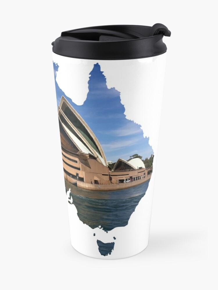Alternate view of Australia with Sidney's opera house Travel Mug