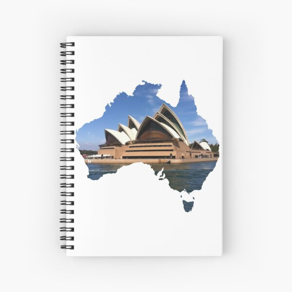 Australia with Sidney's opera house Spiral Notebook