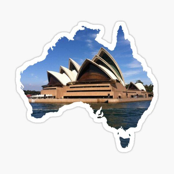 Australia with Sidney's opera house Sticker