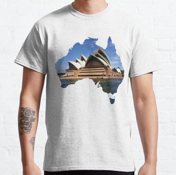 Australia with Sidney's opera house Classic T-Shirt