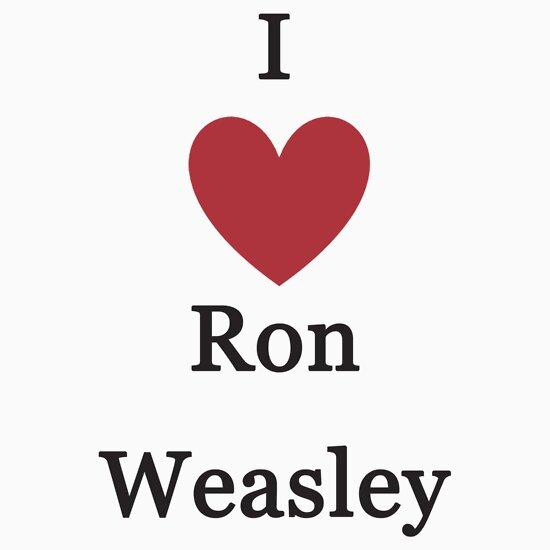 TShirtGifter presents: I Love Ron Weasley