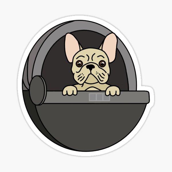 french bulldog in pod Sticker