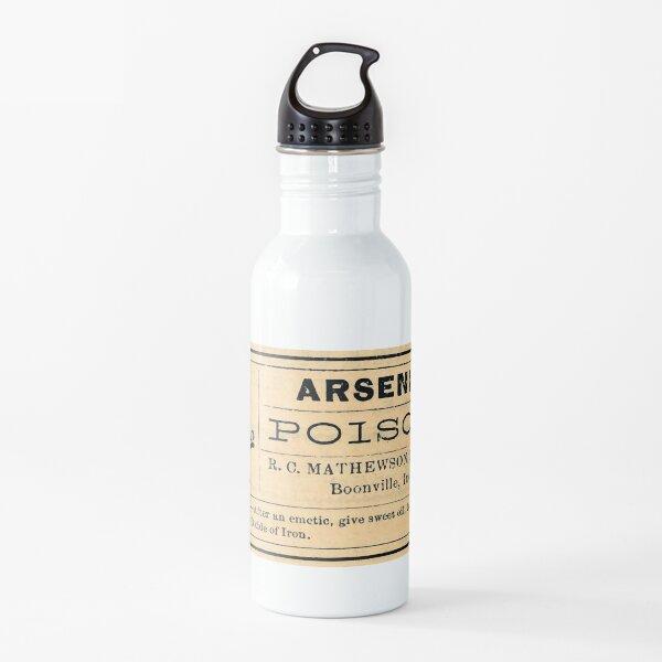 Arsenic Poison Skull Label Water Bottle