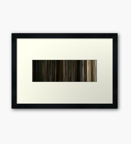 Moviebarcode: The Fountain (2006) Framed Print