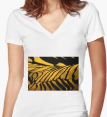 Yuanyang Terraced rice field  3 Women's Fitted V-Neck T-Shirt