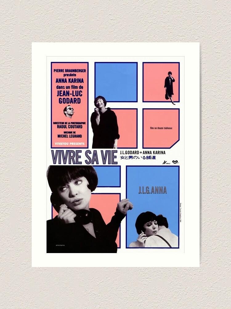 Jean-luc Godard movie poster print 3 1962 Film en douze tableaux Vivre sa vie