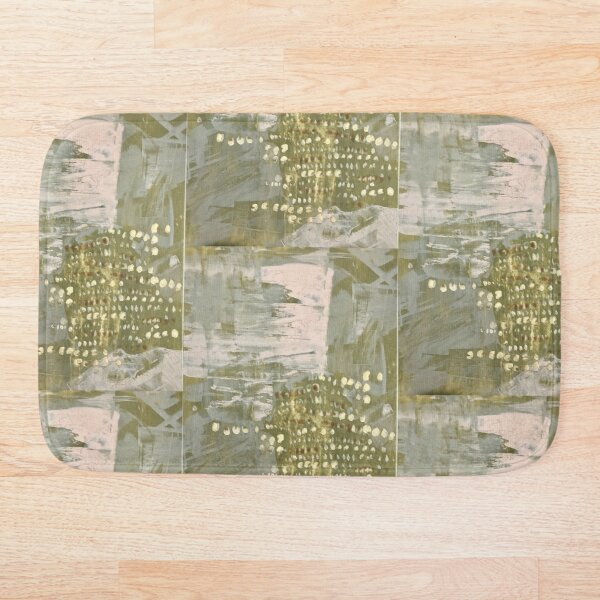 Abstracted Paint Bath Mat