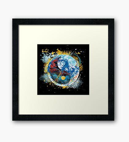 flux planet Framed Print