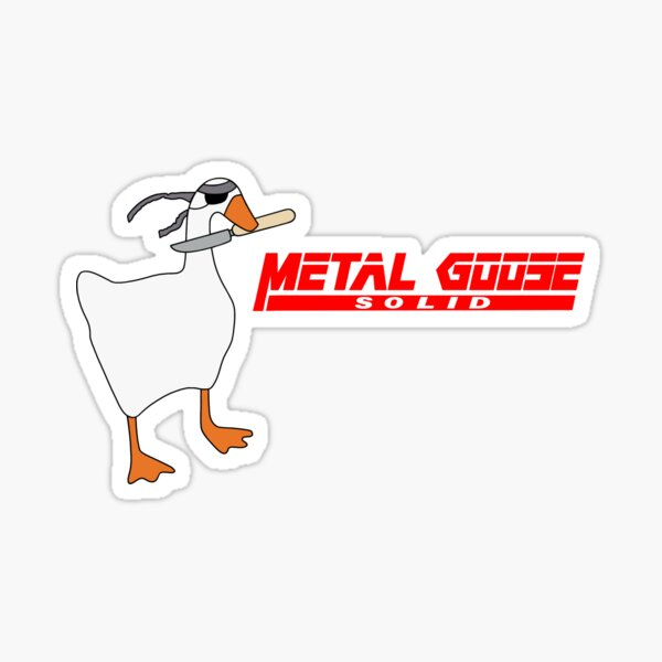 Metal Goose Solid Sticker